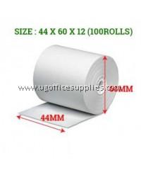 CASH REGISTER THERMAL ROLL 44 x 60 x 12 - 100 ROLLS