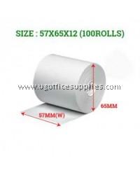 CASH REGISTER PAPER ROLLS 57 x 65 x 12 - 100 ROLLS