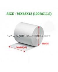 CASH REGISTER PAPER ROLLS 76 x 65 x 12 - 100 ROLLS