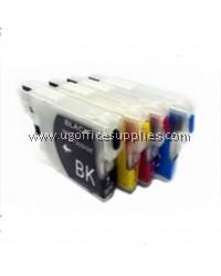 BROTHER LC38 ORIGINAL FULL SET INK CARTRIDGE for BROTHER DCP 145C / DCP 195C / DCP 375CW / MFC 250C / DCP 165C / MFC 255CW Ink black cyan magenta yellow