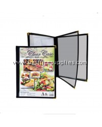 A4 CLEAR CASE MENU HOLDER (6 PAGES)