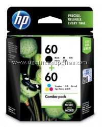 HP 60 COMBO PACK (BLACK + TRI-COLOR)
