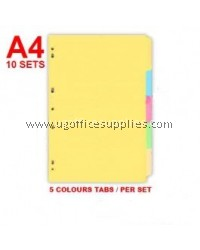 5 COLOURS TAB INDEX DIVIDER