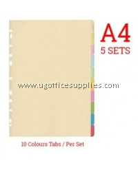 10 COLOURS TAB INDEX DIVIDER
