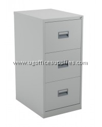 3 DRAWER FILLING CABINET WITH RECESSED HANDLE