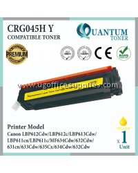 Canon 045 / 045H Cartridge 045 / Cartridge 045H Y / CRG 045H Yellow High Quality Compatible Color Laser Toner Yellow Cartridge for Canon LBP611 LBP611cn LBP613 LBP613cdw MF631 MF631Cn MF633 MF633Cdw MF635 MF635Cx Printer Ink