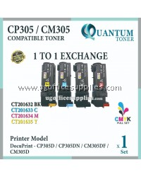 ( Full Set ) Fuji Xerox CP305 / CP 305 / CM305 CT201632 + Cyan CT201633 + Magenta CT201634 + Yellow CT201632 High Quality Compatible Color Laser Toner for Fuji Xerox Color DocuPrint CP 305d / CP 305dn / CM 305d / CM 305df Printer Ink