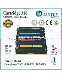 ( Full Set ) Canon 316 Cartridge 316 CRG 316 Cart 316 Black + Cyan + Yellow + Magenta High Quality Compatible Laser Toner For Canon LBP7018c LBP-7018C LBP 7018C LBP7018 7018c / Canon LBP7010c LBP 7010C LBP-7010C LBP7010 7010c