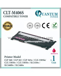 Samsung 406 406S CLT-M406S CLT-406S MG High Quality Compatible Laser Toner Magenta Cartridge for Samsung CLP360 CLP365 CLP-365w CLP365w CLX3305 CLX-3305fn CLX3305fn CLX-3305fw CLX3305fw SL-C410w SLC410w SL-C460fw SLC460fw SL-C460w SLC460w Printer Ink