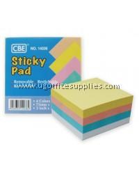 CBE 14036 STICKY PAD (PASTEL COLOR)