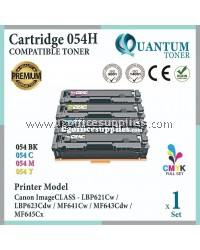 ( Full Set ) Canon 054H Cartridge 054H CRG 054H Cart 054H Black + Cyan + Yellow + Magenta High Yield High Quality Compatible Laser Toner For Canon ImageCLASS LBP621Cw P-621cw LBB621 LBP623Cdw LBP623 /MF641cw MF641 /MF643cdw MF643 MF645cx MF645 Printer Ink