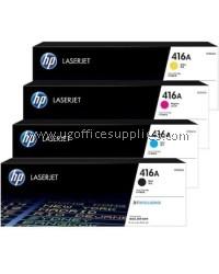 ( GENUINE ) 100% ORIGINAL Full Set HP 416A ( W2040A / W2041A / W2042A / W2043A ) LaserJet Color Toner For HP Color LaserJet Pro M454 /MFP M479 Printer