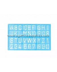 ABC Alphabet Stencil Ruler (34cm x 21cm)